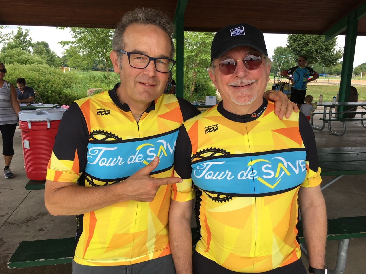 Bill Metz and Theo Black at the 2016 Tour De Save in Northfield MN